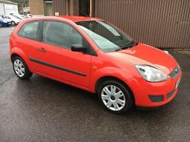 0808 Ford Fiesta 1.4TDCi Style Red 3 Door 76456mls MOT 12m £30 Road Tax
