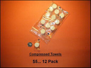 Compressed Towels…. Camping / Fishing / Auto / Purse
