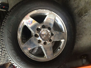 4 brand new Goodyear tires on used 3/4 ton Denali rims