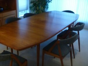 Dining Table (teak) and 6 Chairs