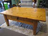 Old Rustic Solid Wood Coffee Table