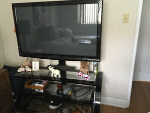 "48"" FLAT SCREEN TV WITH SWIVEL STAND"