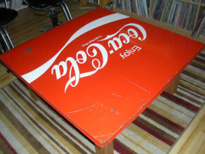 Large Coke Sign Table