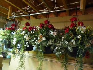 Fleurs artificielles jardinières décoration
