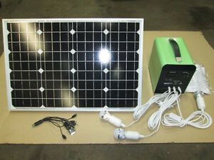 12 VOLT SOLAR KIT COMPLETE FOR CABIN/CAPING/HUNTING PORTABLE