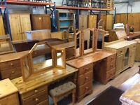 Solid wood / pine dressing table