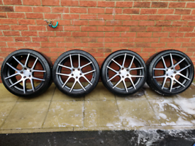 """19'"""" Alloys with Tyres x 4"""