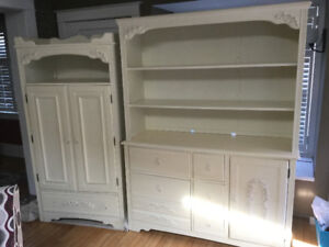 Children's furniture Armoir and hutch combo