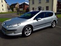Immaculate Peuget 407 Hdi Estate SE Sport - 17in Alloys Double Glass Roof Long Mot