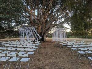 Bulk 110 WEDDING CHAIRS- indoor & outdoor folding white chairs Turner North Canberra Preview