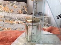 12 Glass Jars with Lids, never used (9cms)