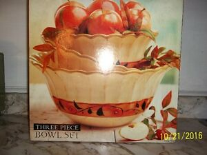 3 Bowl Decorative Set