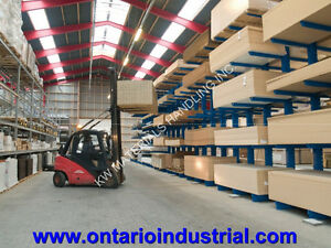 LIGHT DUTY CANTILEVER RACKING IN STOCK. LOWEST PRICE IN ONTARIO