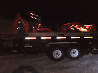 Dump Trailer and Compact Tractor/Backhoe For Hire!
