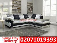 Dimo Crushed Velvet Corner Sofa--Best Quality