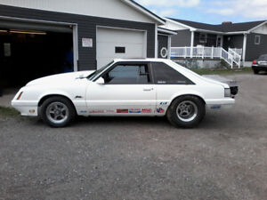 1986 fox body mustang prostreet or drag race(rolling)