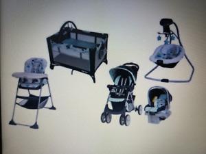 Graco 5 piece baby gear