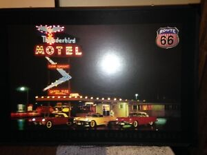 Ford Thunderbird Motel light-up sign & other wall items