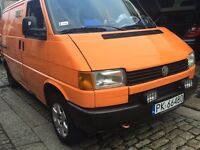 VW TRANSPORTER ** 1.9 Diesel ** 5 SPEED ** Orange ** Polish plate ** Good Condition ** £1199