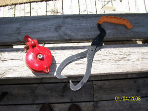 snatch block and log tongs