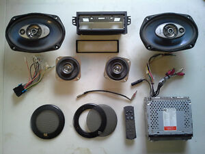 ECLIPSE: CD/MP3 Car Stereo with Speakers and Chev Wiring Harness
