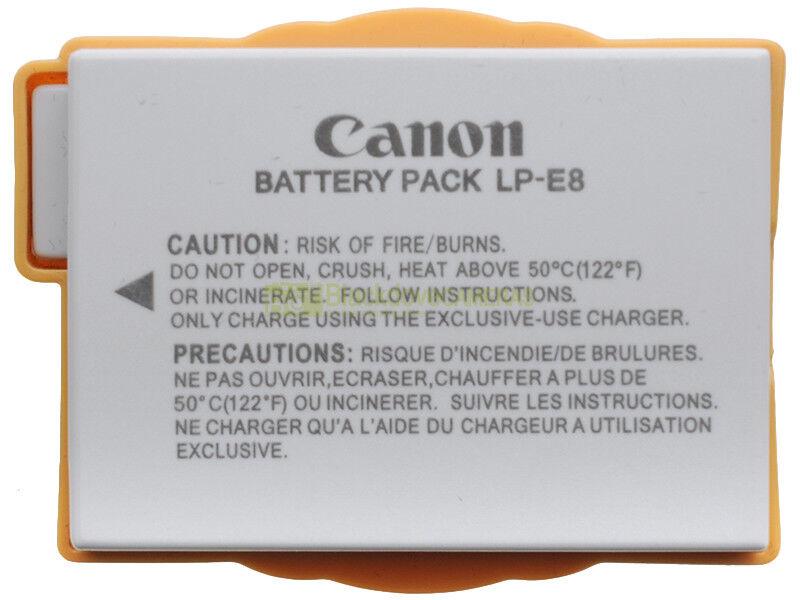 Canon LP-E8 batteria per EOS 550D 600D 650D 700D 1120 MAh, 7,2 Vh. Originale!