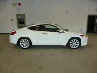 2009 Honda Accord EX-L COUPE WHITE ON BLACK! 6SPD! ONLY $12,900!