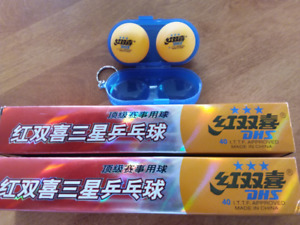 12 New DHS ITTF Approved Orange 3-Star 40mm Table Tennis Balls