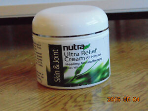 Nutra Ultra Relief Cream 2 oz bottle for pain relief