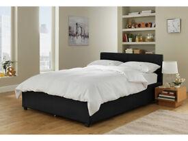 Lavendon Small Double Ottoman Bed Frame - Black