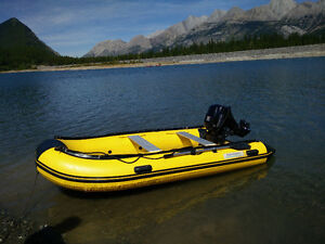 AQUAMARINE 11ft INFLATABLE BOAT with TOHATSU 15 HP outboard