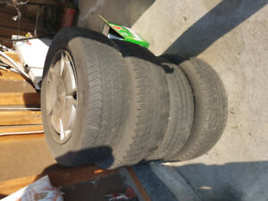 As Is Honda Civic Stock Rims and Tires 4x