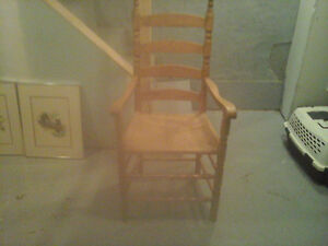 vintage oak ladder back chairs