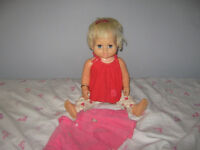 OLD DOLL- 1960'S CHATTY BABY,  MATTEL, AN ONLY CANADIAN DOLL