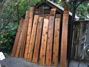 Tongue and Groove Reclaimed Fencing