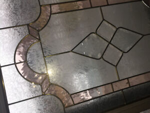 Stained glass window for door frame