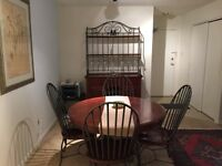 Dinette with matching cabinet set