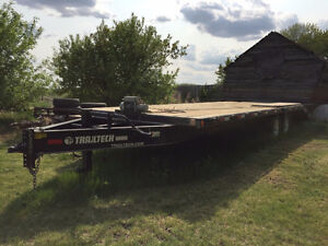 24ft flat deck trailer and winch