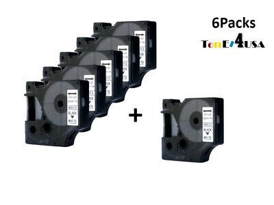 6 Pk Black On White Label Tape For Dymo D1 45013 Label Manager Printer