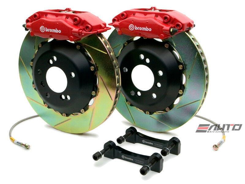 Brembo Rear Gt Brake C Caliper Red 328x28 Slot Rotor Benz Sl500 Sl550 R230