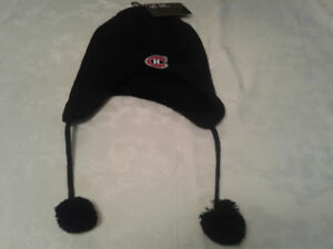 A NEW NHL MONTREAL CANADIENS TOQUE BLACK COLOUR WITH HABS EMBLEM