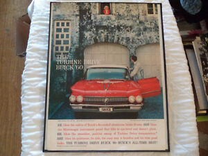 OLD BUICK  CLASSIC CAR FRAMED AD Windsor Region Ontario image 6