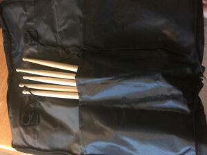 Drumsticks and carry case