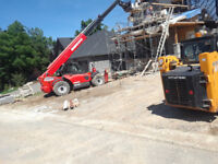 Telehandler and operator for hire.