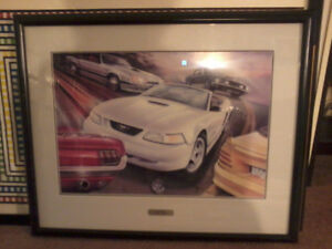 35th anniversary ford mustang print signed