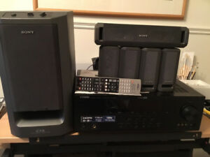 Yamaha HTR-6250 AV, 7.1 RECEIVER & Sony SA-VE315 Speakers