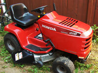 RARELY USED AUTOMATIC NO SHIFTING  HONDA TRACTOR HA4118 18 HORSE