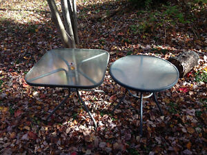 Two outdoor tables