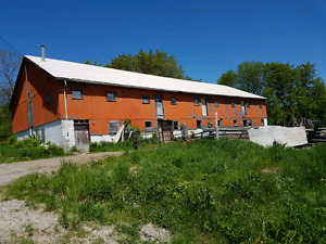 For rent a large barn in colborne anything but livestock