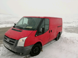 Red Ford transit van for sale
